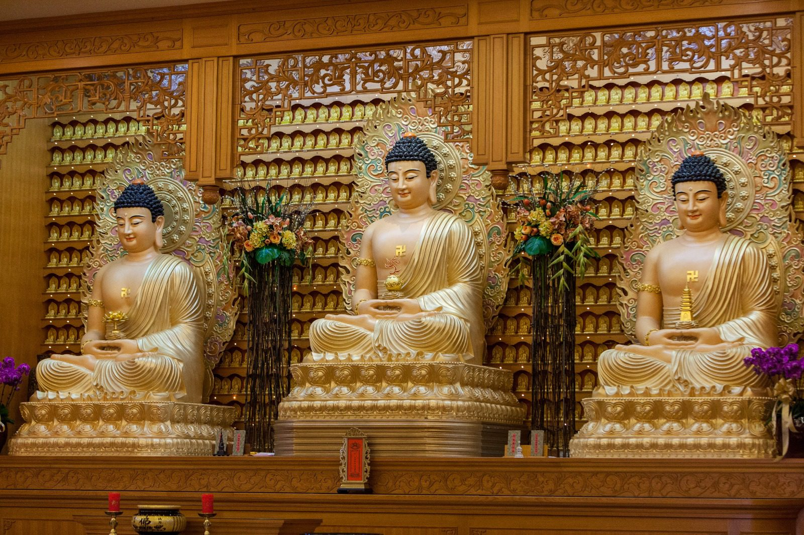 Buddhas in the Main Shrine